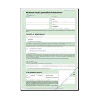 Bild Arbeitsvertrag (gewerblich) - A4, 2 x 2 Blatt