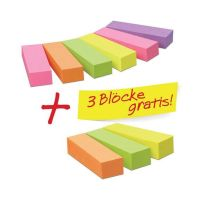 Bild Page Marker Neon - Promotionset 6+3 gratis: 9 Blöcke, davon 3 gratis, 50 x 15 mm