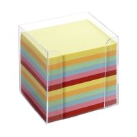 Bild Notizboxen - glasklar, ca. 700 Blatt - bunt (sortiert), lose