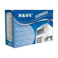 Bild Original HAUG Thermopapierrolle digitale Tachographen - Economy, 8m x 57mm, 3 Rollen