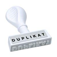 Bild Stempel Text Duplikat - Abdruck 45 mm