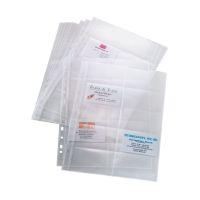 Bild Hüllen für Visitenkarten-Ringbücher, zweireihig, A4, 10 Sichthüllen, für bis zu 200 Karten (max. 90x58 mm)