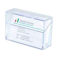 Bild Visitenkarten-Box, glasklar, für bis zu 100 Karten (max. 86x56 mm)