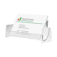 Bild Visitenkarten-Aufsteller, glasklar, für bis zu 50 Karten (max. 97x85 mm)