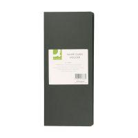 Bild Visitenkartenbuch schwarz für 96 Karten