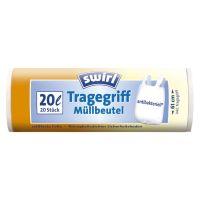 Bild Müll-Beutel antibakteriell mit Tragegriffen - 20 Liter, Folienstärke 10 mym, 20 Stück