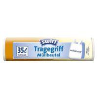 Bild Müll-Beutel antibakteriell mit Tragegriffen - 35 Liter, Folienstärke 8 mym, 15 Stück