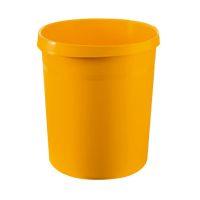 Bild Papierkorb GRIP, 18 Liter, rund, 2 Griffmulden, extra stabil, gelb