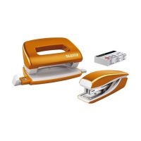 Bild 5561 Set Mini Locher Heftgerät NeXXt WOW - orange metallic