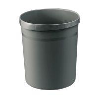 Bild Papierkorb GRIP, 18 Liter, mit 2 Griffmulden, extra stabil, rund, dunkelgrau