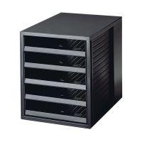 Bild Schubladenbox SCHRANK-SET KARMA - A4/C4, 5 offene Schubladen, öko-schwarz