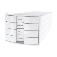 Bild Schubladenbox IMPULS - A4/C4, 4 geschlossene Schubladen, weiß