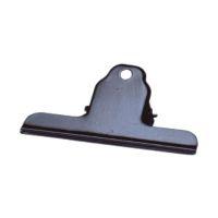 Bild Briefklemmer Metall lackiert - 100 mm, Klemmvolumen 30 mm, schwarz, 10 Stück