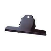 Bild Briefklemmer Metall lackiert - 125 mm, Klemmvolumen 40 mm, schwarz, 10 Stück