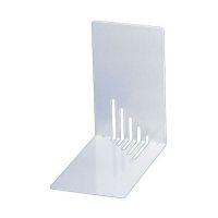 Bild Buchstützen aus Metall, schmal, 85 x 140 x 140 mm, weiß, Pack mit 2 Stück