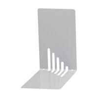Bild Buchstützen aus Metall, schmal, 85 x 140 x 140 mm, silber, Pack mit 2 Stück