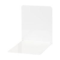 Bild Buchstützen aus Metall, breit, 120 x 140 x 140 mm, weiß, Pack mit 2 Stück