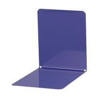 Bild Buchstützen aus Metall, breit, 120 x 140 x 140 mm, blau, Pack mit 2 Stück