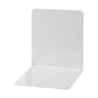 Bild Buchstützen aus Metall, breit, 120 x 140 x 140 mm, grau, Pack mit 2 Stück