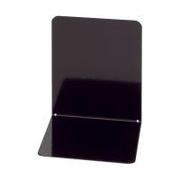 Bild Buchstützen aus Metall, breit, 120 x 140 x 140 mm, schwarz, Pack mit 2 Stück