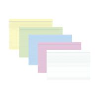 Bild Karteikarten - DIN A8, liniert, farbig sortiert, 100 Karten