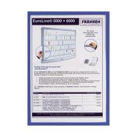 Bild X-tra!Line® Dokumentenhülle Frame It - A4, Hartfolie, matt, blau, 5 Stück