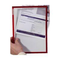 Bild X-tra!Line® Dokumentenhülle Frame It - A4, Hartfolie, matt, rot, 5 Stück