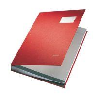 Bild 5700 Unterschriftsmappe - 20 Fächer, PP kaschiert, rot