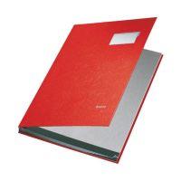 Bild 5701 Unterschriftsmappe - 10 Fächer, PP kaschiert, rot