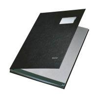 Bild 5701 Unterschriftsmappe - 10 Fächer, PP kaschiert, schwarz