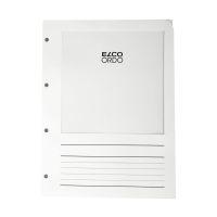 Bild Sichtmappen Ordo Vista - mit Sichtfenster und Linien, weiß, 10 Stück, 4-Fach gelocht