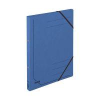 Bild Ringbuch Colorspankarton - A4, 2-Ring, Gummizug, blau