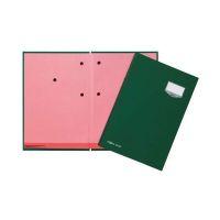 Bild Unterschriftsmappe DE LUXE - 20 Fächern, A4, Leinen-Einband, grün