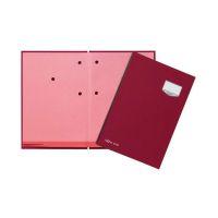 Bild Unterschriftsmappe DE LUXE - 20 Fächern, A4, Leinen-Einband, rot