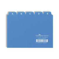 Bild Leitregister A-Z - DIN A6 quer, blau