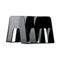 Bild Katalogsammler SORTER - hochglänzend, 3 Fächer, extra stabil, schwarz