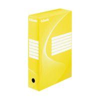 Bild Archiv-Schachtel - DIN A4, Rückenbreite 8 cm, gelb
