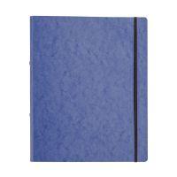 Bild Ringbuch Pressspan - A4, 2-Ring, Ring-Ø 16mm, Gummizug, blau