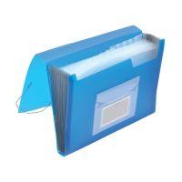 Bild Fächermappe - 13 Taschen, 250 Blatt, PP, transluzent blau