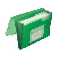 Bild Fächermappe - 13 Taschen, 250 Blatt, PP, transluzent grün