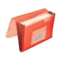 Bild Fächermappe - 13 Taschen, 250 Blatt, PP, transluzent rot