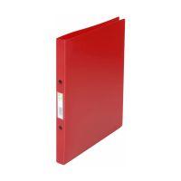 Bild Ringbuch transparent - A4, 2-Ring, Ring-Ø 16 mm, rot gedeckt