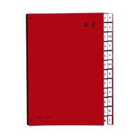 Bild Pultordner Color-Einband - Tabe A - Z, 24 Fächer, rot