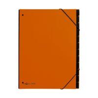 Bild Pultordner Trend - 12 Fächer, Eckspanngummi, orange