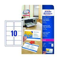 Bild C32016-10 Premium Visitenkarten, 85 x 54 mm, beidseitig beschichtet - satiniert, 10 Blatt/100 Stück