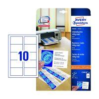 Bild C32010-10 Classic Visitenkarten, 85 x 54 mm, beidseitig beschichtet - matt, 10 Blatt/100 Stück