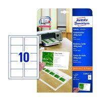 Bild C32011-10 Superior Visitenkarten, 85 x 54 mm, einseitig beschichtet - matt, 10 Blatt/100 Stück