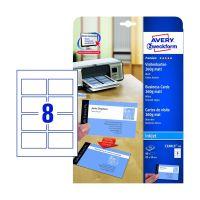 Bild C32015-10 Premium Visitenkarten, 85 x 54 mm, Inkjet-Spezialbeschichtung beidseitig - matt, 10 Blatt/80 Stück