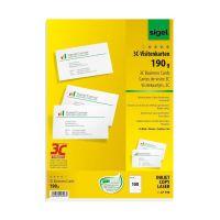 Bild Visitenkarten, 3C, glatter Schnitt rundum, 190 g/qm, hochweiß, 100 Stück