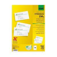 Bild Visitenkarten, 3C, glatter Schnitt rundum, 250 g/qm, hochweiß, 100 Stück